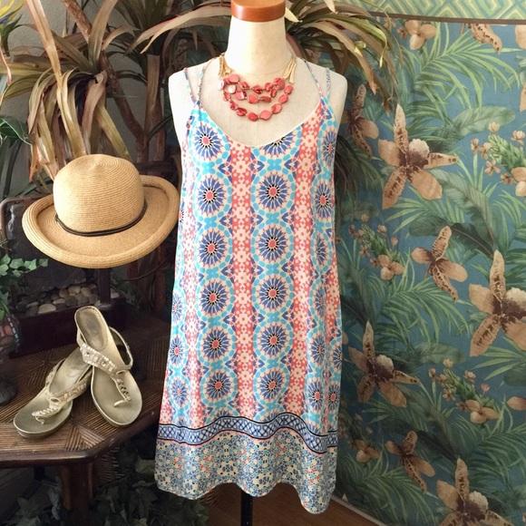 880e7c2bd943 Anthropologie Dresses | Paper Crane Pullover Multi Strap Aline Dress ...